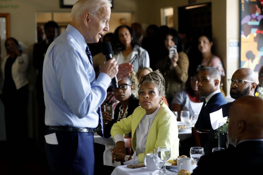 Joe Biden at an L.A. restaurant