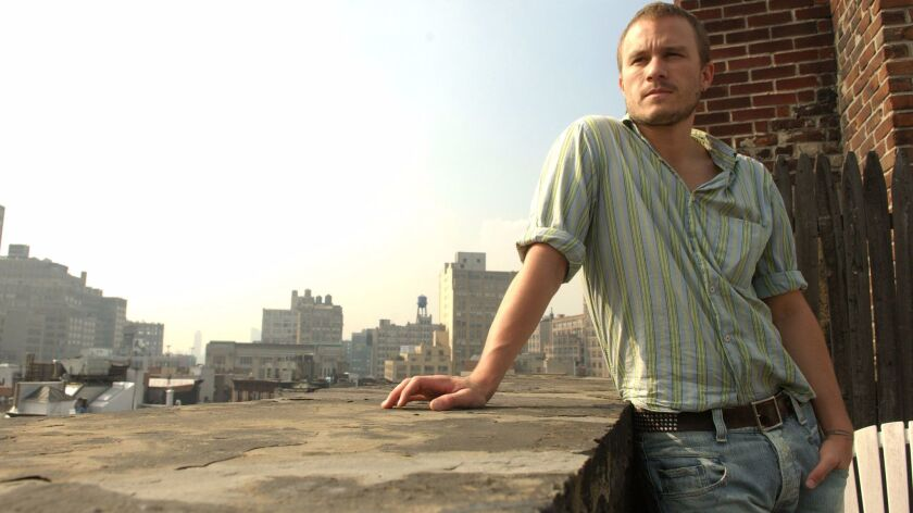 Actor Heath Ledger on a roof top in Manhattan, NY. 10/5/2005. Photo by Jennifer S. Altman/for The Times