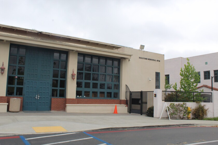 The R. Roger Rowe School gym will be painted over the summer.