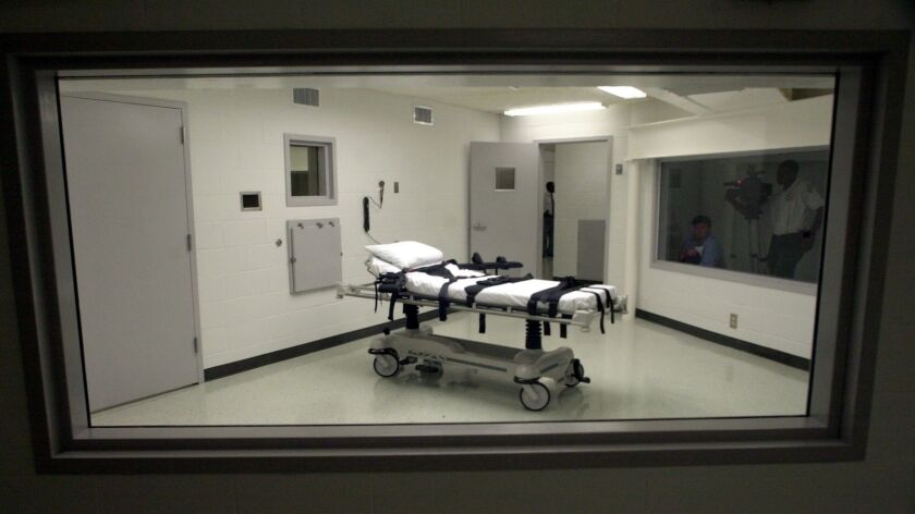 Alabama's lethal injection chamber at Holman Correctional Facility in Atmore, Ala. in Oct. of 2002.