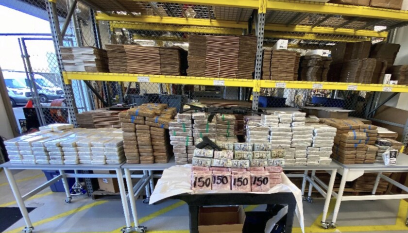 Federal agents seized $3.5 million in cash and massive quantities of cocaine, fentanyl and .50 caliber ammunition