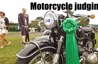 Motorcycle judging at Concours d'Elegance