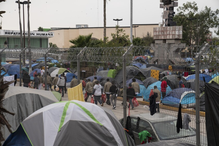Asylum seekers in Matamoros.