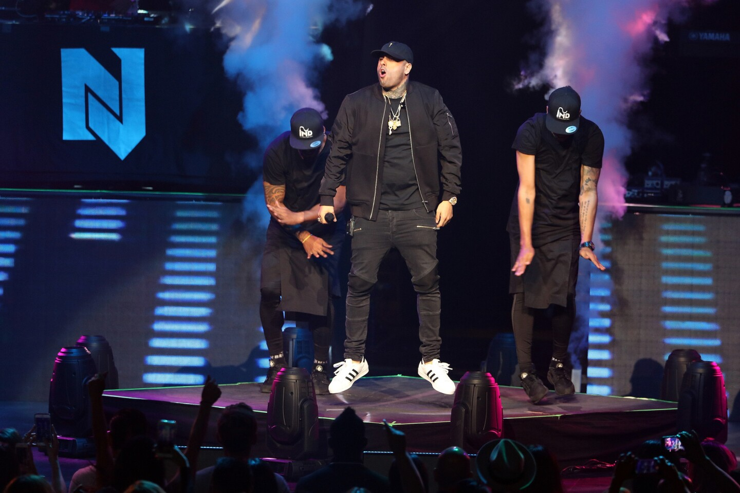"Nicky Jam performs onstage during ""The Fenix Tour"" at Microsoft Theater on July 29, 2016 in Los Angeles, CA. (Photo by © Art. Garcia/DDPixels.com)"