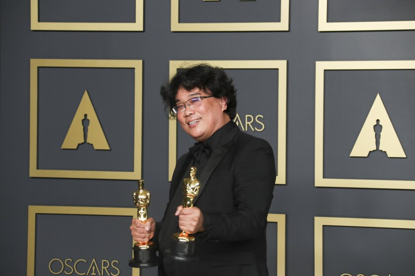 Bong Joon Ho, winner of the international feature and best picture Oscar for 'Parasite'at the 92nd Academy Awards.