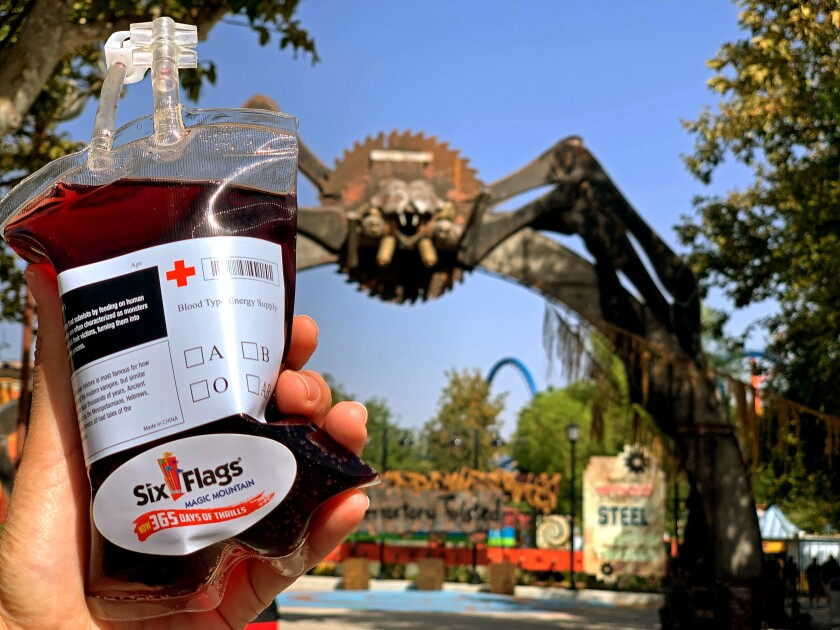 Six Flags Magic Mountain blood bag