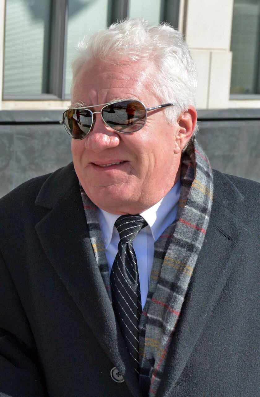 Former Freedom Industries owner and president Dennis Farrell walks into federal Court in Charleston W.Va., Thursday Feb. 11, 2016.  Farrell is scheduled to be sentenced for his conviction on a pollution charge in a 2014 chemical spill into a Charleston river that prompted a tap water ban for 300,00