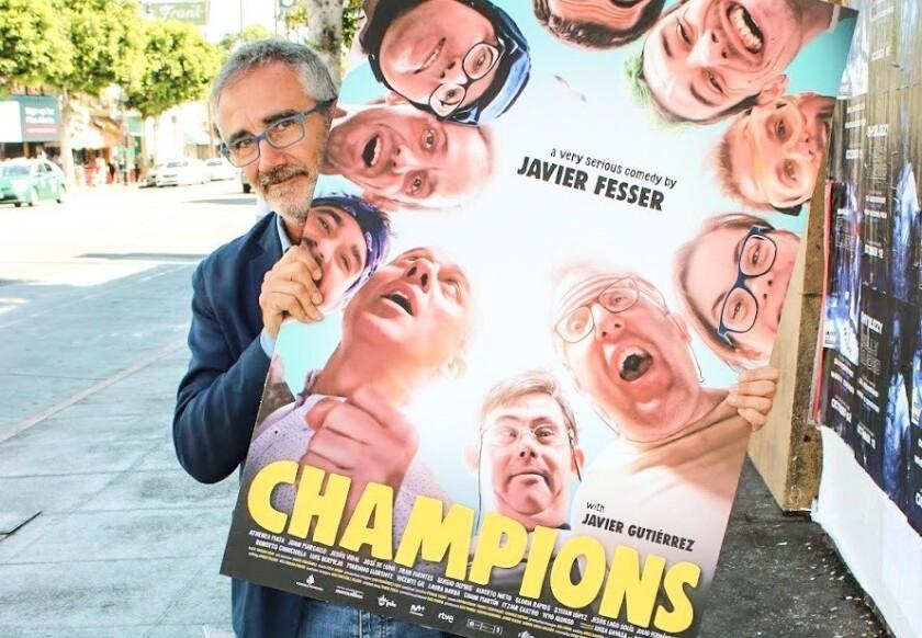 """Javier Ferrer, director de la cinta """"Campeones"""", que fue la elegida para la apertura de la muestra Recent Spanish Cinema."""