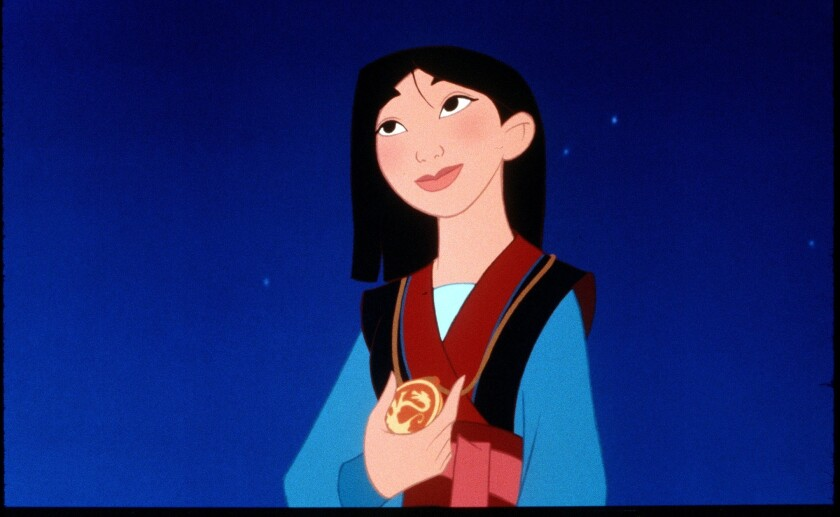 """Disney is making a live-action version of its popular animated film """"Mulan."""""""