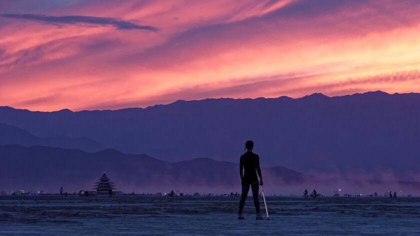 Charis Hill, 32, at Burning Man.