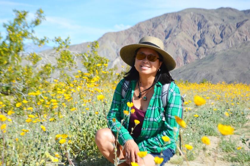 Criselda Yee in Anza Borrego Desert State Park.