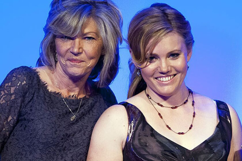 Jaycee Dugard, right, and her mother Terry Probyn at the National Center for Missing and Exploited Children's annual Hope Awards in Washington.