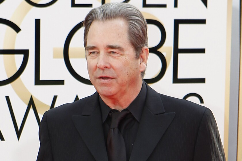 Beau Bridges arrives for the 71st Annual Golden Globe Awards show at the Beverly Hilton Hotel on Sunday.