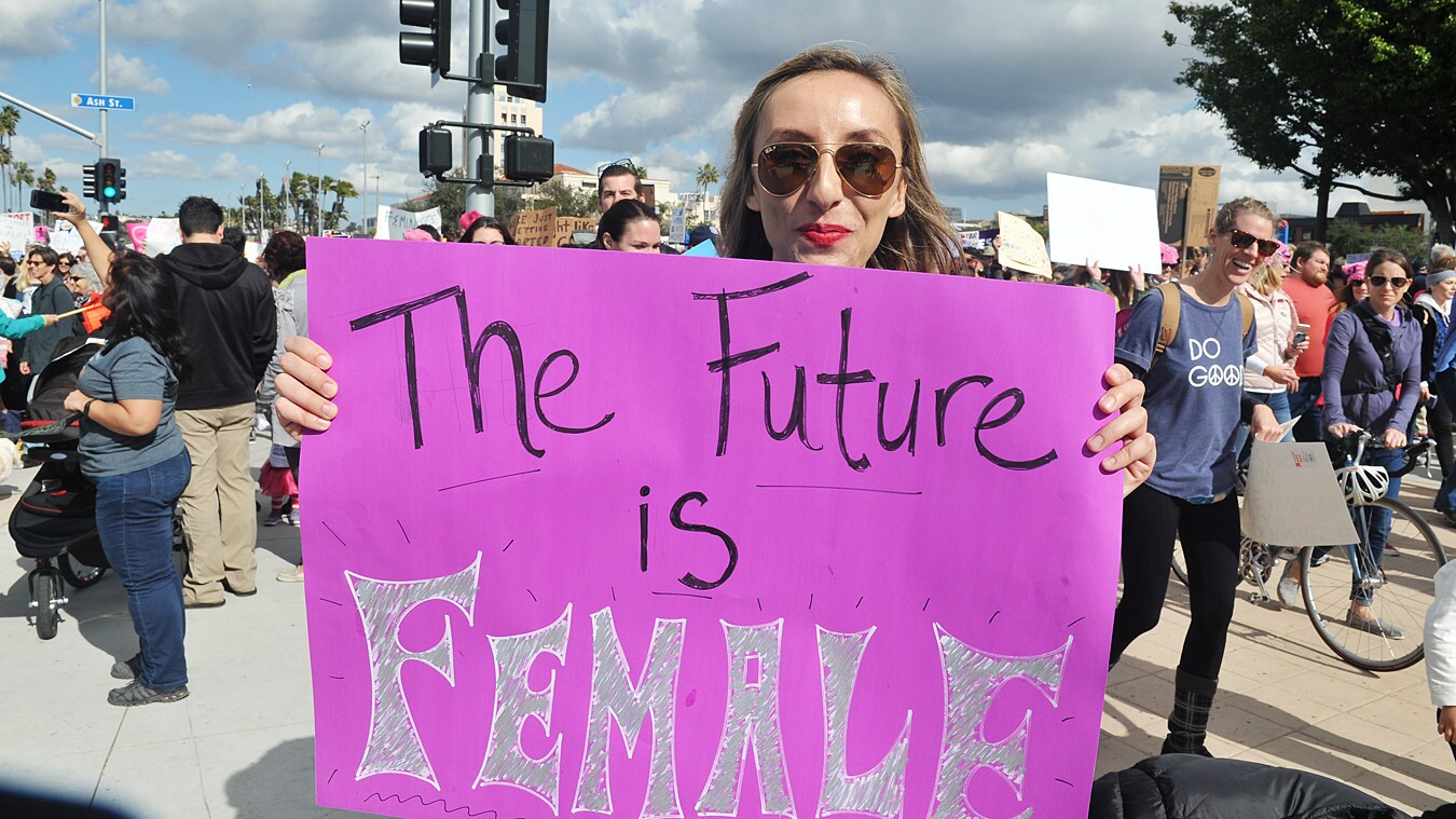 People of all stripes turned up to march and support equality at the San Diego Women's March in downtown San Diego on Saturday, Jan. 20, 2018.