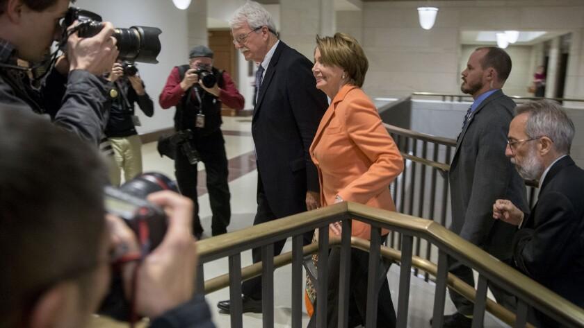 Rep. Nancy Pelosi with Rep. George Miller