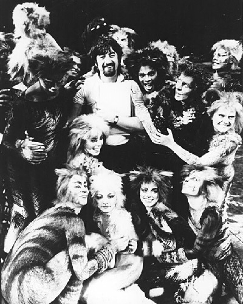 """Trevor Nunn with the """"Cats"""" cast on Broadway in 1982."""