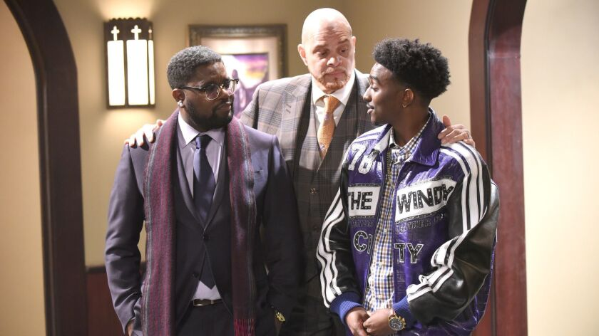 REL: L-R: Lil Rel Howery, Sinbad and Jordan L Jones in the special preview of the all-new ÒPilotÓ ep