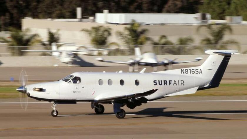 Surf Air, which operates a membership air service in smaller airports throughout California, wants to start commuter flights between San Diego's Montgomery Field and Los Angeles.