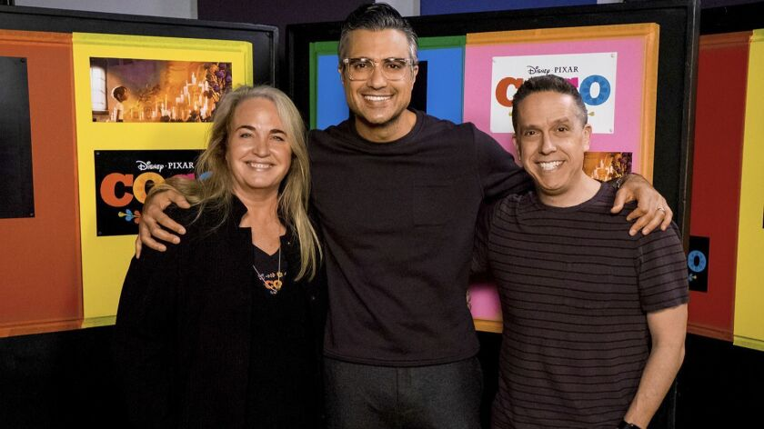 Taking on the role of Miguel's father, Pap‡, is CW's Jane the Virgin star Jaime Camil(center) with d