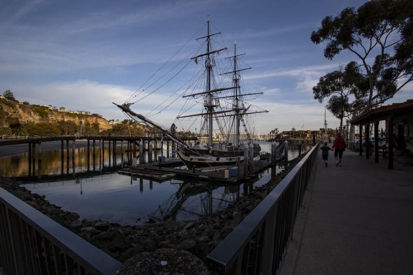 The historic Pilgrim tall-masted privateer schooner is a replica of the trading ship that first brought Dana Point's namesake, author Richard Henry Dana, to its shores.