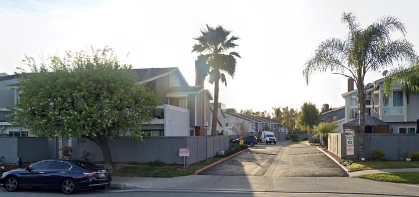 Derek Valentine was fatally stabbed in 2017 in his condo on Shasta Lane in Costa Mesa.