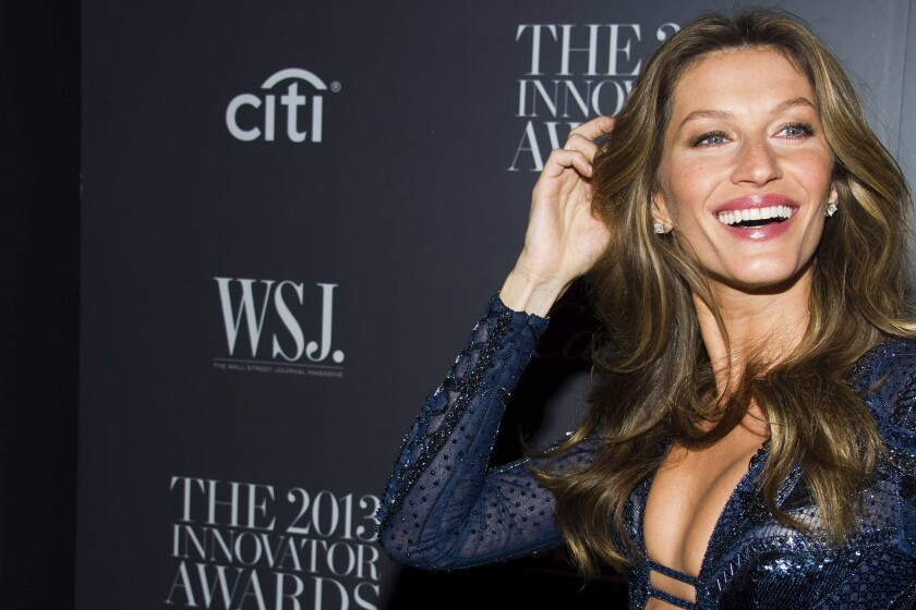 Supermodel Gisele Bundchen is represented by IMG.