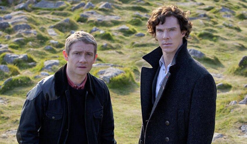 Martin Freeman, left, and Benedict Cumberbatch star in 'Sherlock.'