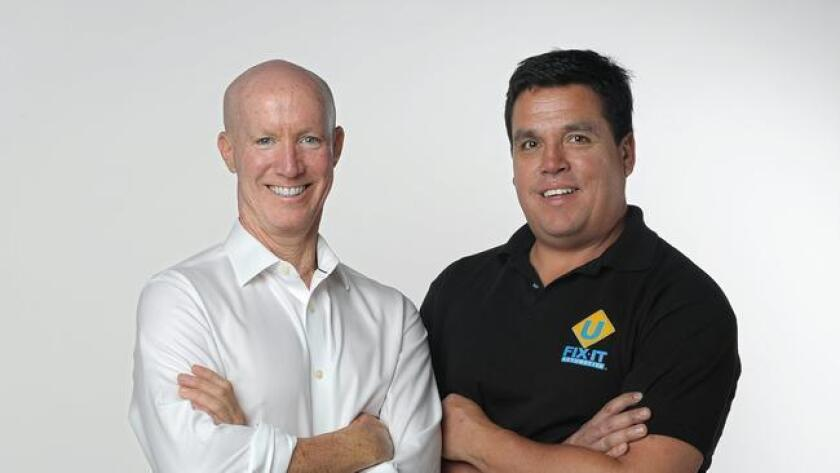 Larry Murnane and Joel Munoz, Business Partners, U Fix It Automotive. (/ Rick Nocon)