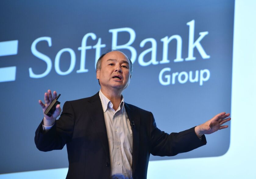 SoftBank's Masayoshi Son speaks during a news conference in Tokyo in July 2016.