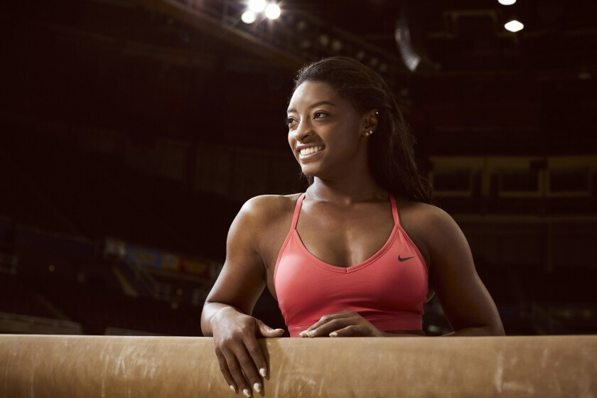 """The Simone Biles Story: Courage to Soar"" celebrates American gymnast Simone Biles who won multiple medals at the 2016 Rio Olympics."