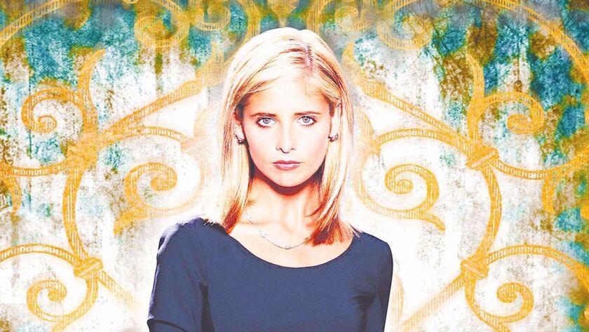 "Sarah Michelle Gellar as ""Buffy the Vampire Slayer."""