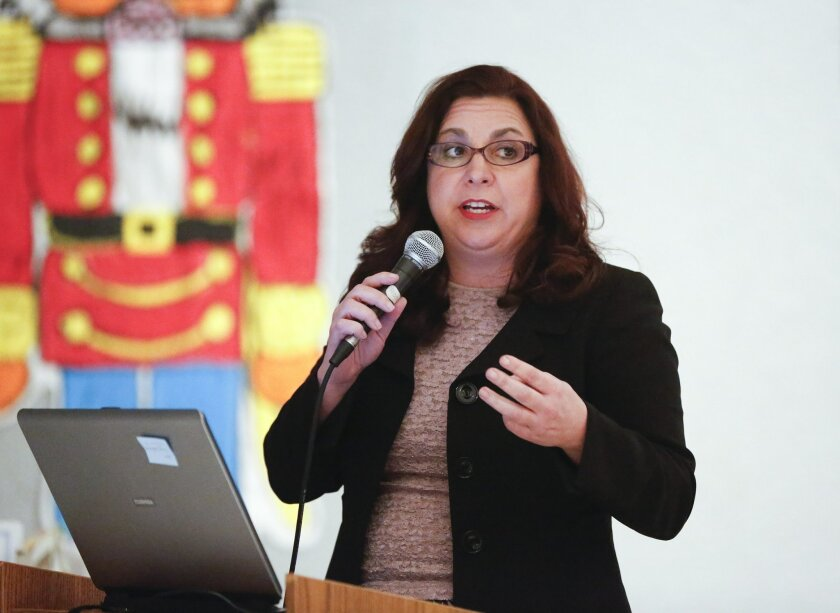 Dena Whittington, assistant superintendent of business services for the San Ysidro School District, resigned Aug. 26. File photo.