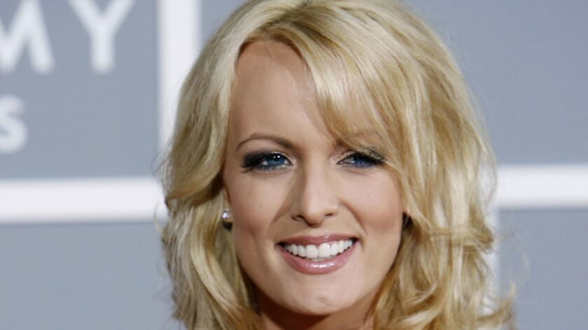 Stormy Daniels arrives for the 2007 Grammy Awards in Los Angeles.