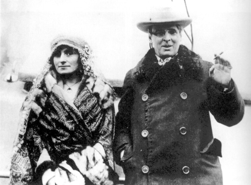 BK.1118.Kenmode23–– The Yeates in the USA, 1920. Image is from the book: W.B. Yeats: A Life II. The