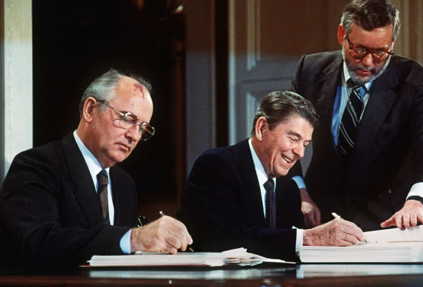 US-MISSILE TREATY-GORBATCHEV-REAGAN