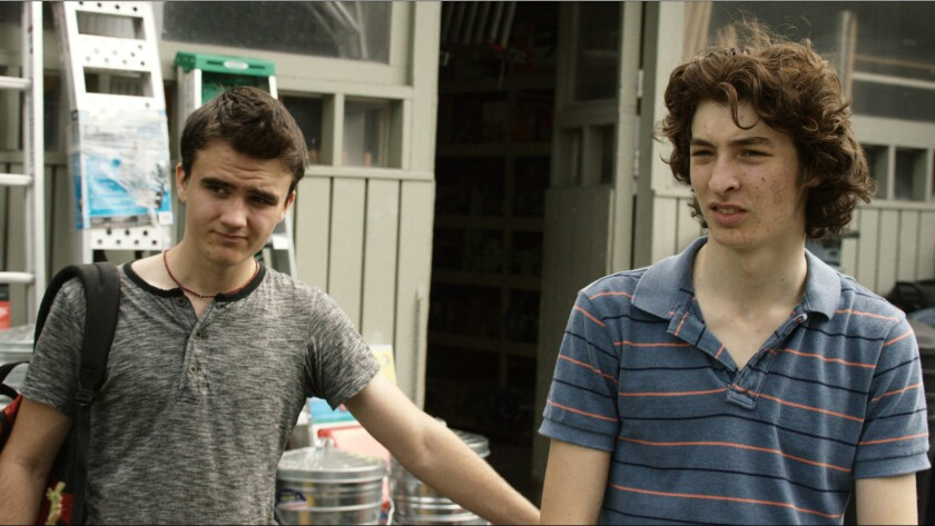 """Jack Fessenden, left, and Asa Spurlock in """"Stray Bullets."""""""