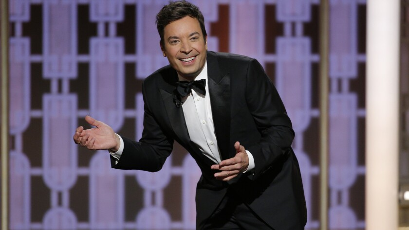 Jimmy Fallon hosting the 2017 Golden Globes
