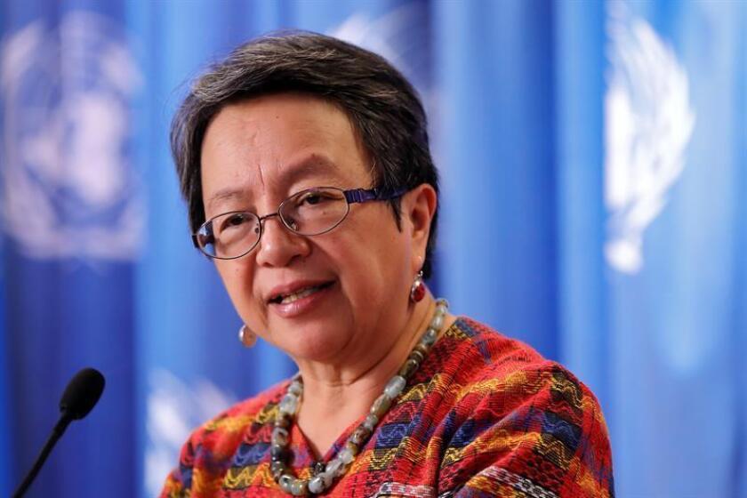 La relatora especial de la ONU sobre los derechos de los pueblos indígenas, Victoria Tauli-Corpuz. EFE/Archivo
