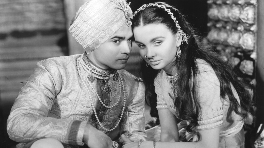 """Sabu and Jean Simmons in the 1947 movie """"Black Narcissus."""""""