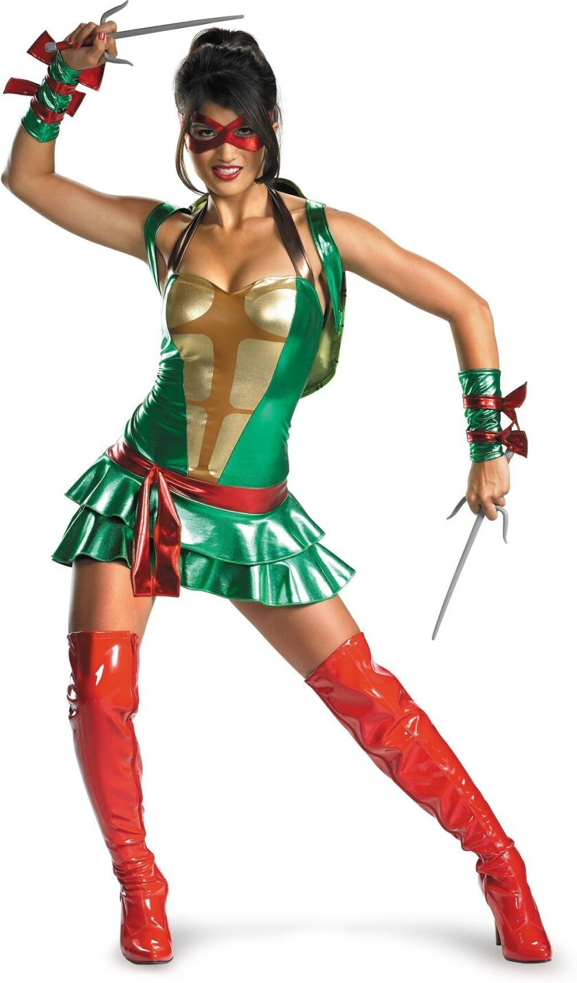 "BuyCostumes.com's one-day ""Orange Tuesday"" one-day promotion includes discounts up to 50% on costumes like this $49.99 Teenage Mutant Ninja Turtle Sexy Deluxe Raphael outfit, which will be available for $29.99"