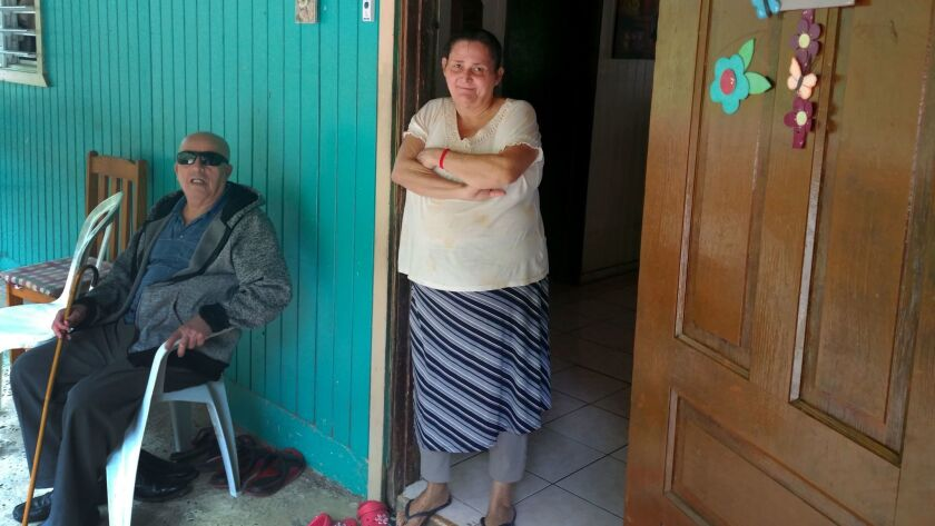 Nelson Rosado, 69, and Rebecca Valle, 60, at their home in Maricao.