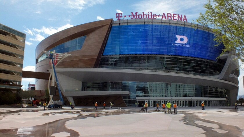 T-Mobile Arena and the Park in Las Vegas