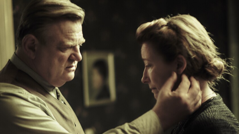 """Brendan Gleeson and Emma Thompson star in the 2016 drama """"Alone in Berlin"""" airing on Showtime."""