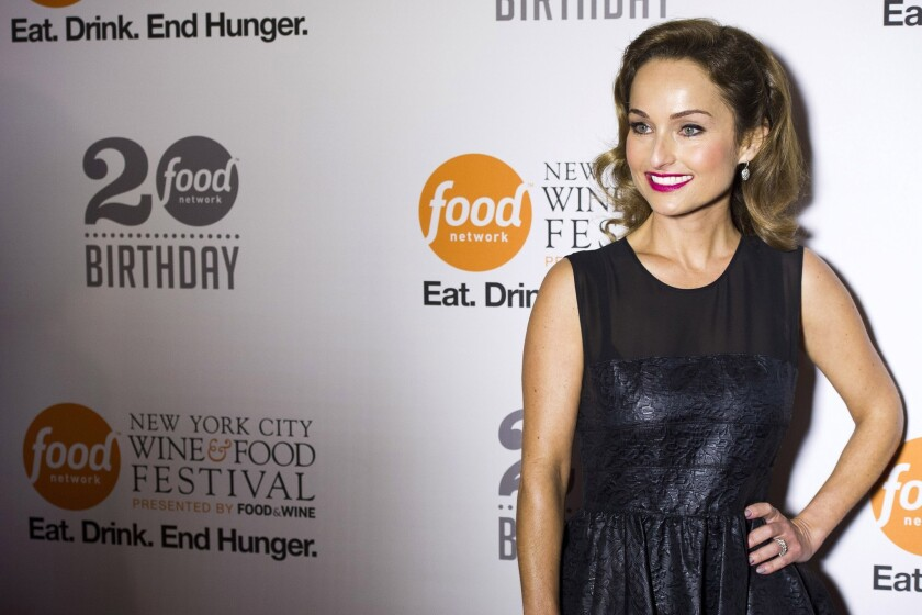 Giada De Laurentiis slices finger on live TV