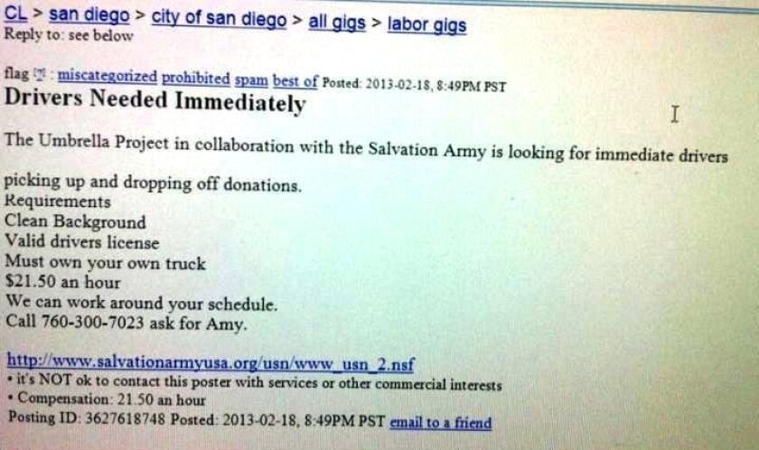 Craigslist Job Scam Lures People To Mexico The San Diego Union Tribune A great place for employment. craigslist job scam lures people to