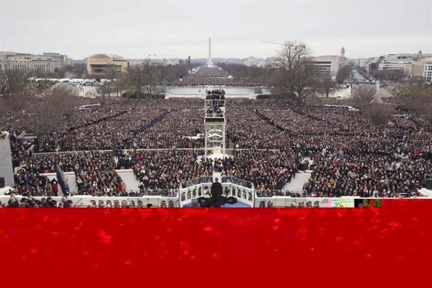 Más de 8.000 participantes desfilarán en la toma de posesión del presidente electo, Donald Trump, el próximo 20 de enero en Washington, informó hoy el Comité de la Investidura Presidencial, organizador de los actos. EFE/ARCHIVO
