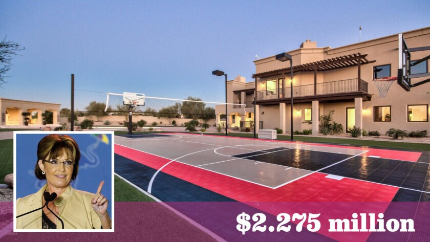 Former Alaska governor and vice presidential candidate Sarah Palin has sold her home in Scottsdale, Ariz., for $2.275 million. She had asked as much as $2.499 million for the nearly 8,000-square-foot residence.