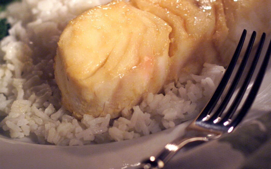 Miso-Glazed Halibut With Rice and Vegetables
