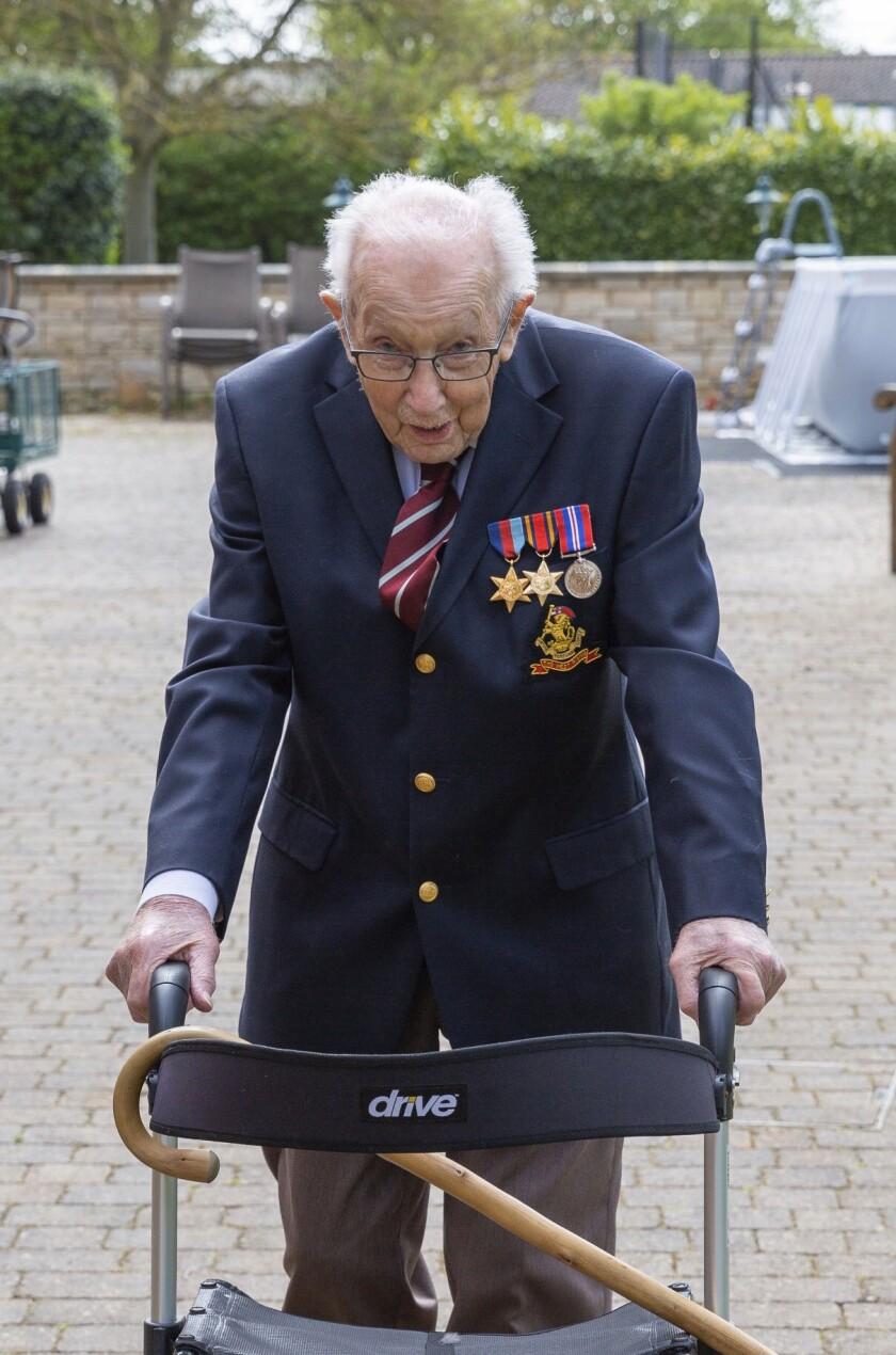 Virus Outbreak Britain Veteran's Thanks