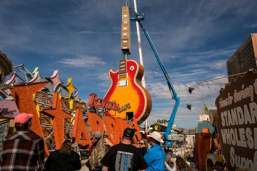 Neon Museum Hard Rock Guitar